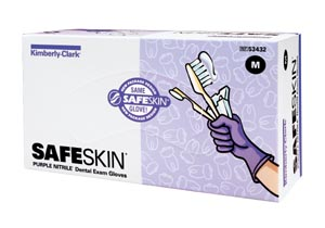 HALYARD PURPLE NITRILE™ DENTAL EXAM GLOVES : 53432 BX