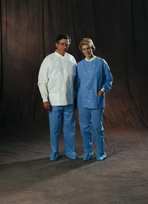 HALYARD UNIVERSAL PRECAUTIONS LAB JACKET : 10072 CS
