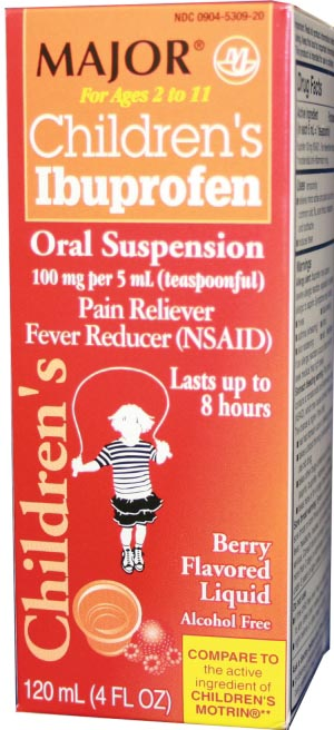 MAJOR ANALGESIC - CHILDRENS : 700760 EA                       $4.78 Stocked