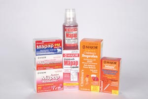 MAJOR ANALGESIC - CHILDRENS : 700791 EA $2.35 Stocked