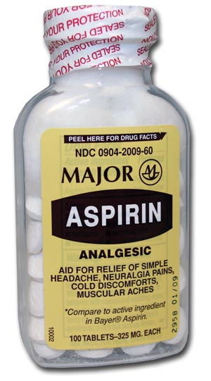MAJOR ASPIRIN TABLETS : 700789 EA $1.08 Stocked