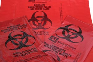 MEDEGEN BIOHAZARDOUS WASTE BAGS : 172M CS $80.13 Stocked