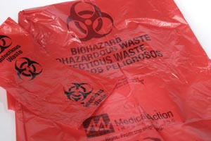 MEDEGEN INFECTIOUS WASTE BAGS : F116 CS $54.25 Stocked