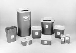 MEDEGEN STACKABLE SHARPS-CONTAINER SYSTEM : 8704T EA             $4.32 Stocked