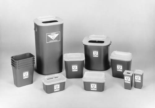 MEDEGEN STACKABLE SHARPS-CONTAINER SYSTEM : 8704T CS $96.10 Stocked