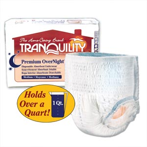 PRINCIPLE BUSINESS TRANQUILITY PREMIUM OVERNIGHT™ DISPOSABLE ABSORBENT UNDERWEAR : 2115 CS                       $64.01 Stocked