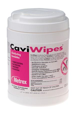METREX CAVIWIPES™ DISINFECTING TOWELETTES : 13-1100 CN                 $9.22 Stocked