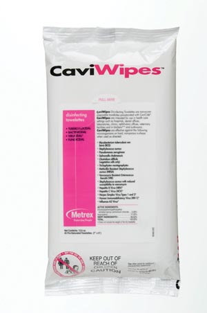 METREX CAVIWIPES™ DISINFECTING TOWELETTES : 13-1224 PK        $6.33 Stocked