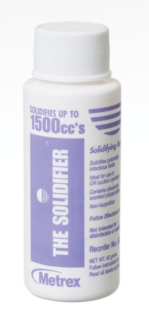 METREX SOLIDIFIER™ SUCTION CANISTER FLUID SOLIDIFICATION SYSTEM : SD1500 EA                       $1.77 Stocked