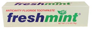 NEW WORLD IMPORTS FRESHMINT FLUORIDE TOOTHPASTE : TP275 EA $0.40 Stocked