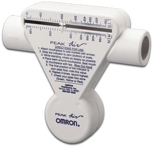 OMRON PEAK-AIR™ PEAK FLOW METER : PF9940 EA $14.82 Stocked