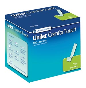 OWEN MUMFORD UNILET BRAND LANCETS : AT0450 BX $6.97 Stocked