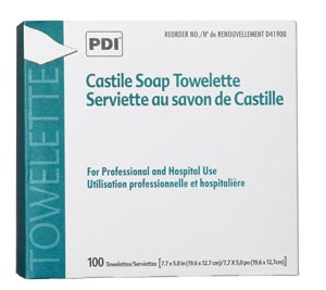 PDI CASTILE SOAP TOWELETTE : D41900 CS                       $32.47 Stocked
