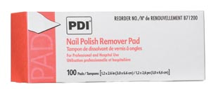 PDI NAIL POLISH REMOVER PAD : B71200 BX $4.41 Stocked