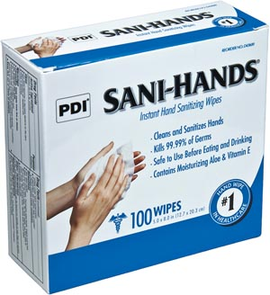 PDI SANI-HANDS INSTANT HAND SANITIZING WIPES : D43600 BX $5.69 Stocked