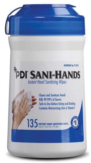 PDI SANI-HANDS INSTANT HAND SANITIZING WIPES : P13472 CS $64.58 Stocked