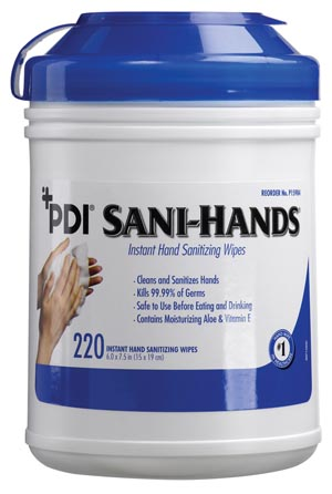 PDI SANI-HANDS INSTANT HAND SANITIZING WIPES : P15984 CN $8.47 Stocked