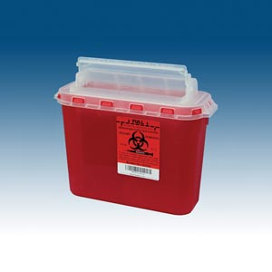 PLASTI WALL MOUNTED SHARPS DISPOSAL SYSTEM : 143154 CS $97.19 Stocked
