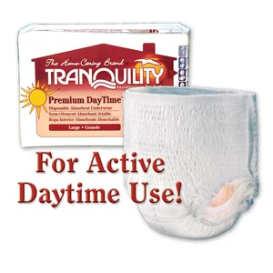 PRINCIPLE BUSINESS TRANQUILITY PREMIUM DAYTIME™ DISPOSABLE ABSORBENT UNDERWEAR : 2106 PK $17.55 Stocked