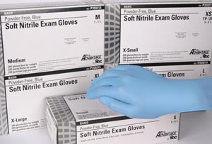 PRO ADVANTAGE BASIC NITRILE EXAM GLOVES POWDER-FREE-BLUE : P359214 CS  $107.90 Stocked