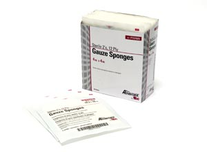 PRO ADVANTAGE GAUZE SPONGES - STERILE : P157025 CS                    $53.35 Stocked