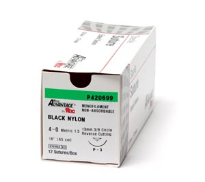 PRO ADVANTAGE NYLON SUTURES : P421667 BX                       $25.00 Stocked