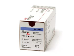 PRO ADVANTAGE POLYGLYCOLIC ACID (PGA) SUTURES : P420493 BX                    $48.97 Stocked