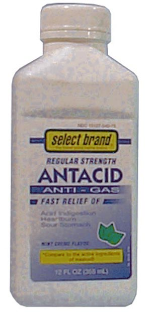 SAJ SELECT BRAND ANTACIDS-ANTIGAS : 7240005 CS $30.26 Stocked