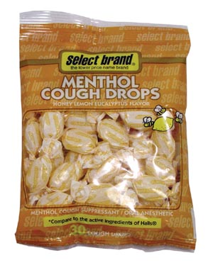 SAJ SELECT BRAND COUGH DROPS : 7400013 EA $1.17 Stocked