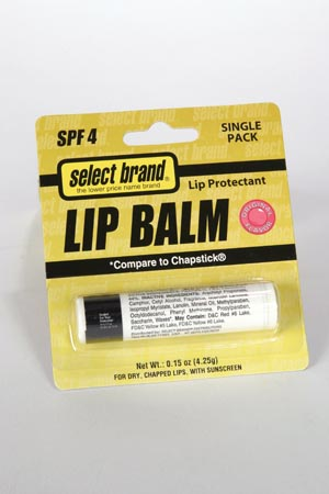 SAJ SELECT BRAND LIP BALM : 4890091 EA                       $2.92 Stocked
