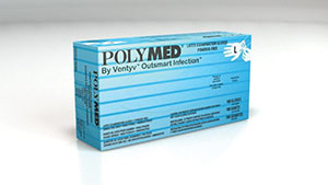 VENTYV POLYMED LATEX EXAM POWDER-FREE GLOVES : PM104 BX $5.75 Stocked