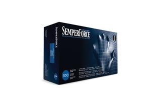 SEMPERMED SEMPERFORCE NITRILE EXAM POWDER FREE TEXTURED GLOVE : BKNF104 CS $69.16 Stocked