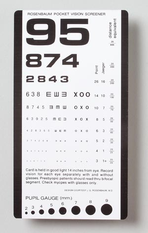 TECH-MED EYE CHARTS : 3053 EA       $1.82 Stocked
