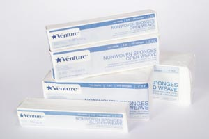 TIDI VENTURE™ 4-PLY NON-STERILE NONWOVEN SPONGES : 912044 CS  $45.89 Stocked