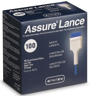 ARKRAY ASSURE LANCE LOW FLOW LANCETS : 980125 BX     $11.40 Stocked