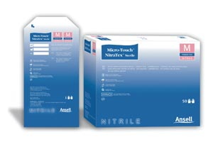 ANSELL MICRO-TOUCH NITRATEX STERILE EXAM GLOVES : 6034153 BX $47.00 Stocked