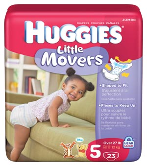 KIMBERLY-CLARK HUGGIES LITTLE SNUGGLERS DIAPERS : 67330 CS $68.80 Stocked