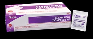 DUKAL CLEANSING TOWELETTE : 858 BX                       $2.84 Stocked