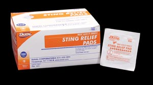 DUKAL STING RELIEF PAD : 856 BX $4.11 Stocked