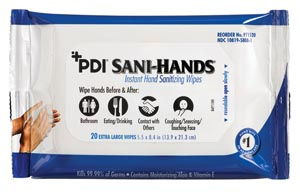 PDI SANI-HANDS BEDSIDE PACK : P71520 CS                       $80.50 Stocked