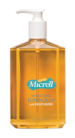 GOJO MICRELL ANTIBACTERIAL LOTION SOAP : 9759-12 EA                       $4.44 Stocked
