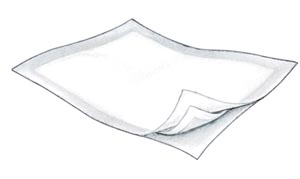 COVIDIEN/MEDICAL SUPPLIES CURITY™ INFANT CRIB LINER : 7209 CS             $71.41 Stocked