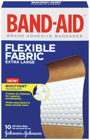 J&J BAND-AID FLEXIBLE FABRIC ADHESIVE BANDAGES : 005685 BX $4.21 Stocked