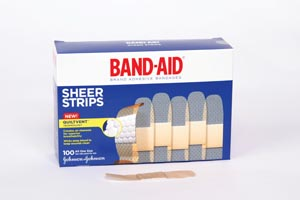 J&J BAND-AID SHEER STRIPS & SPOTS : 004634 BX     $3.83 Stocked
