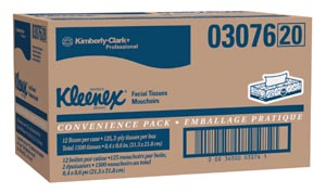 KIMBERLY-CLARK FACIAL TISSUE : 03076 PK                       $1.98 Stocked