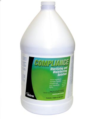 METREX COMPLIANCE STERILIZING & DISINFECTION SOLUTION : 10-2500 EA                $53.01 Stocked