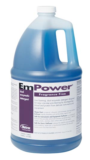 METREX EMPOWER™ DUAL ENZYMATIC DETERGENT : 10-4400 CS                       $127.50 Stocked