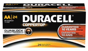 DURACELL COPPERTOP ALKALINE BATTERY WITH DURALOCK POWER PRESERVE™ TECHNOLOGY : MN1500BKD CS $78.62 Stocked