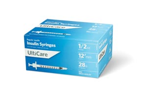 ULTIMED ULTICARE INSULIN SYRINGES : 8258 BX $13.49 Stocked