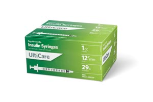 ULTIMED ULTICARE INSULIN SYRINGES : 9219 BX $13.49 Stocked
